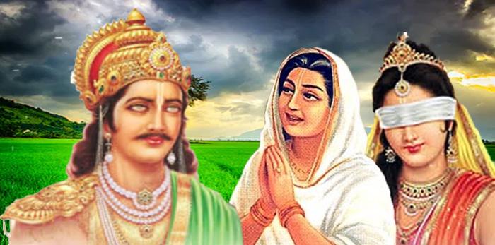 Image result for gandhari and dhritarashtra